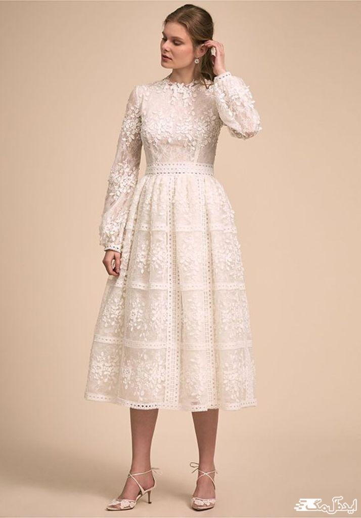 لباس عروس کوتاه و ساده برای نامزدی