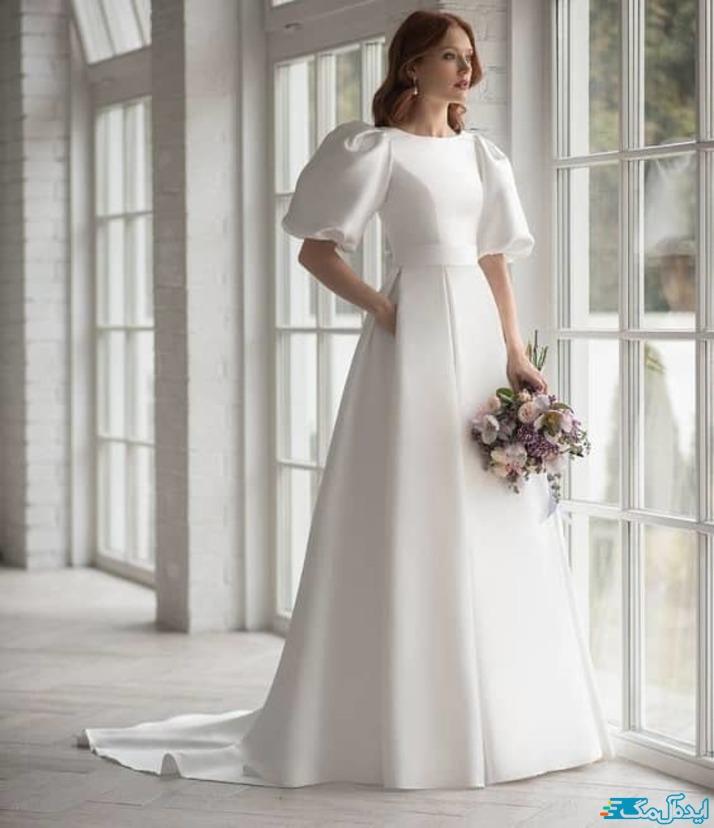مدل لباس عروس پوشیده و محجبه