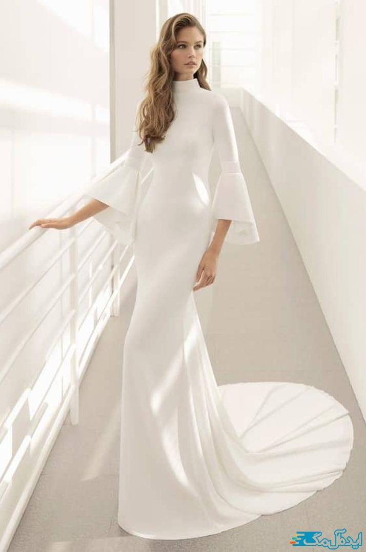لباس عروس اروپایی پوشیده و ساده