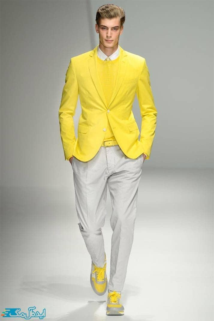 ست زرد و خاکستری برای آقایان