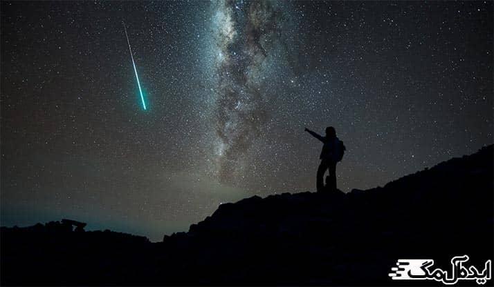 زیبایی شهاب سنگ در آسمان