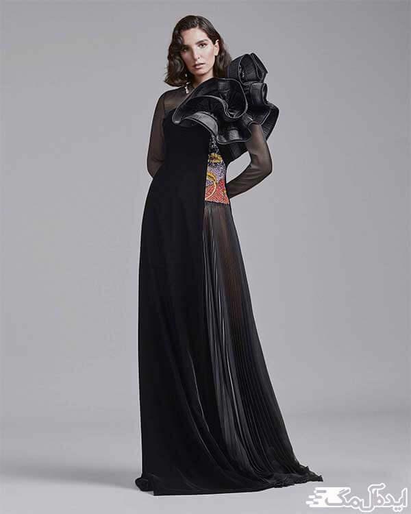 مدل لباس شب مشکی شیک 2020