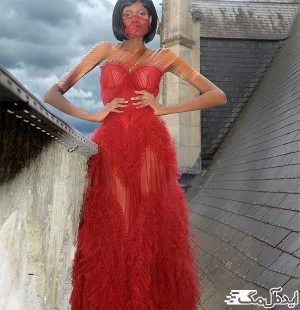مدل لباس مجلسی دکلته قرمز