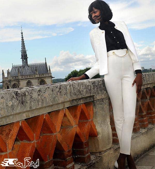 مدل کت و شلوار سفید زنانه مجلسی