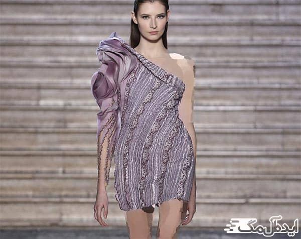 مدل لباس مجلسی با یقه رومی