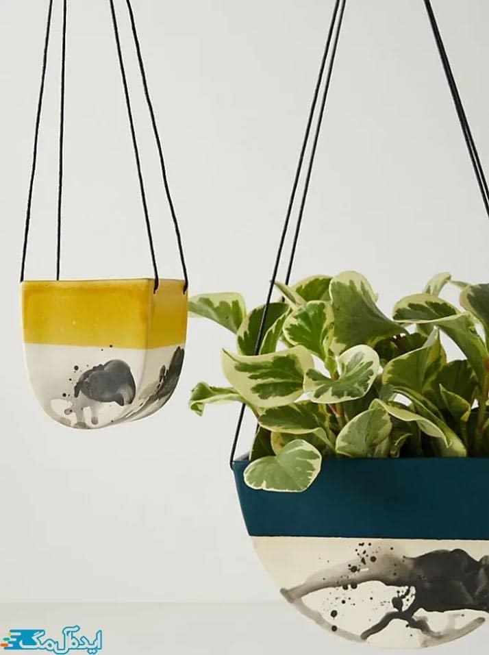 گلدان سرامیکی برای گیاهان آویز