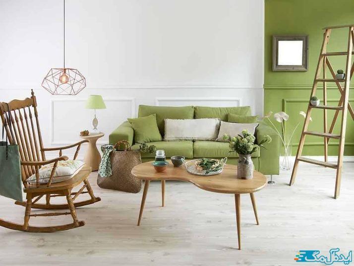 استفاده از رنگ سبز زیتونی در دکوراسیون داخلی
