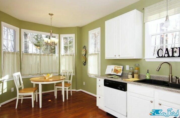 استفاده از رنگ سبز زیتونی در دیوارها