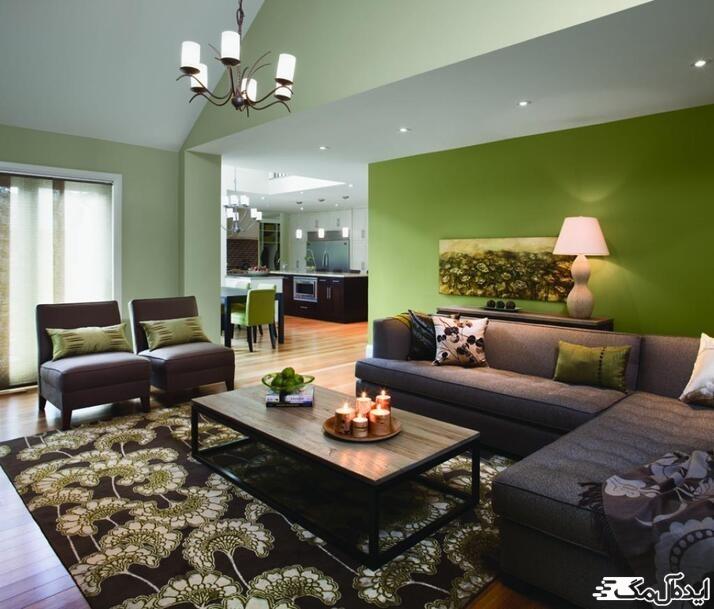 رنگ سبز زیتونی در دکوراسیون خانه