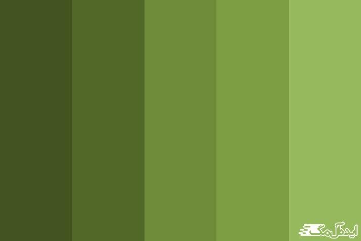 طیف رنگ سبز زیتونی