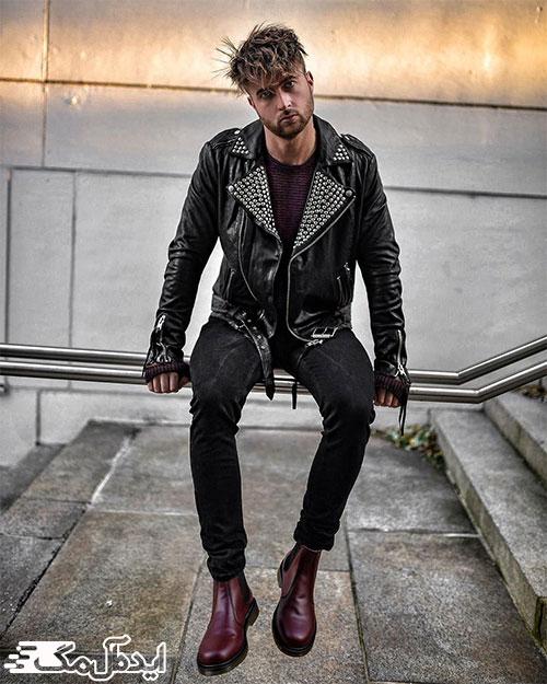 سبک پوشش راکر در لباس مردانه
