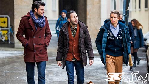 تیپ شیک زمستانی برای آقایان جوان
