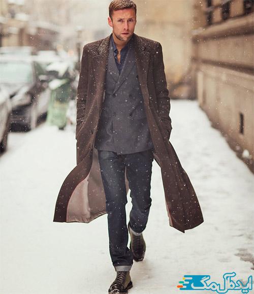 تیپ مردانه کلاسیک شیک برای زمستان
