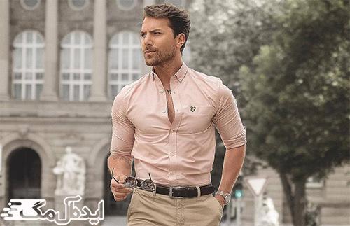 ست لباس مردان اسپرت با پیراهن پارچهای