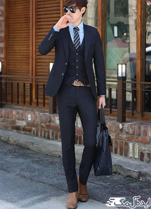 ست کردن کفش و کمربند در تیپ مردانه رسمی