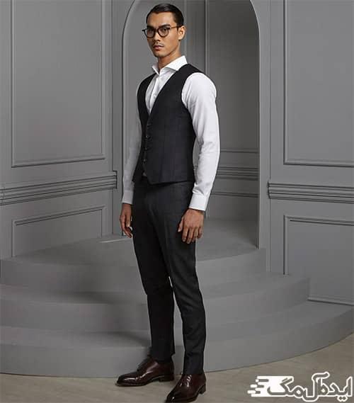استفاده از ژیله پارچه ای در تیپ مردانه رسمی