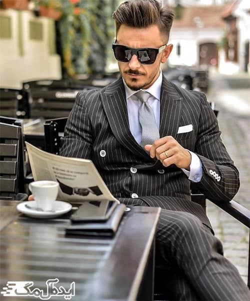 تیپ مردانه کلاسیک با کت و شلوار دیپلمات