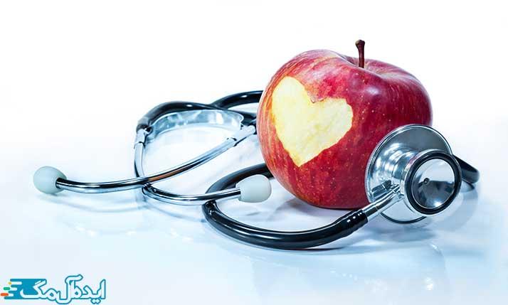 مصرف سیب برای سلامت قلب