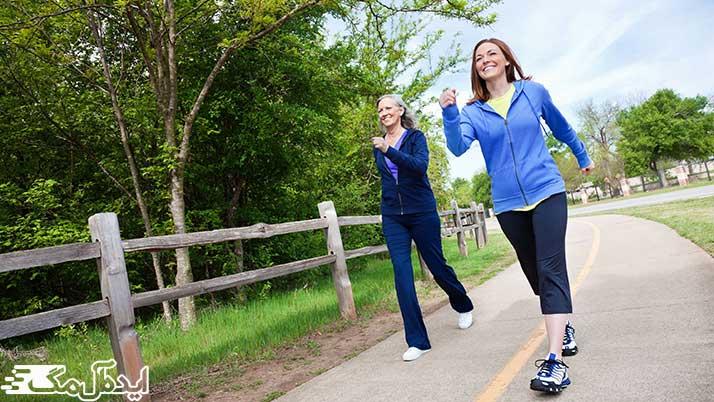 ورزش کردن و پیاده روی
