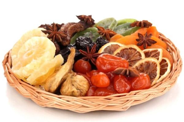 کالری میوه های خشک