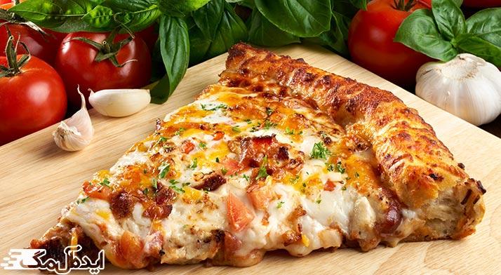 مقدار کالری پیتزاهای مختلف