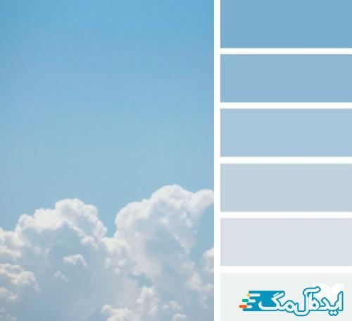 ست رنگ آبی آسمانی