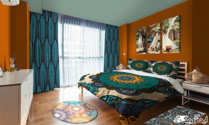 دکوراسیون اتاق خواب با رنگ های شاد