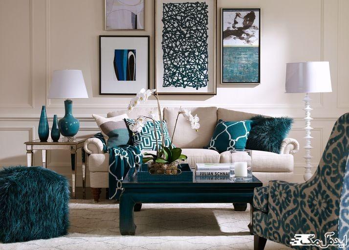 استفاده از رنگ کله غازی برای جذاب کردن محیط آپارتمان