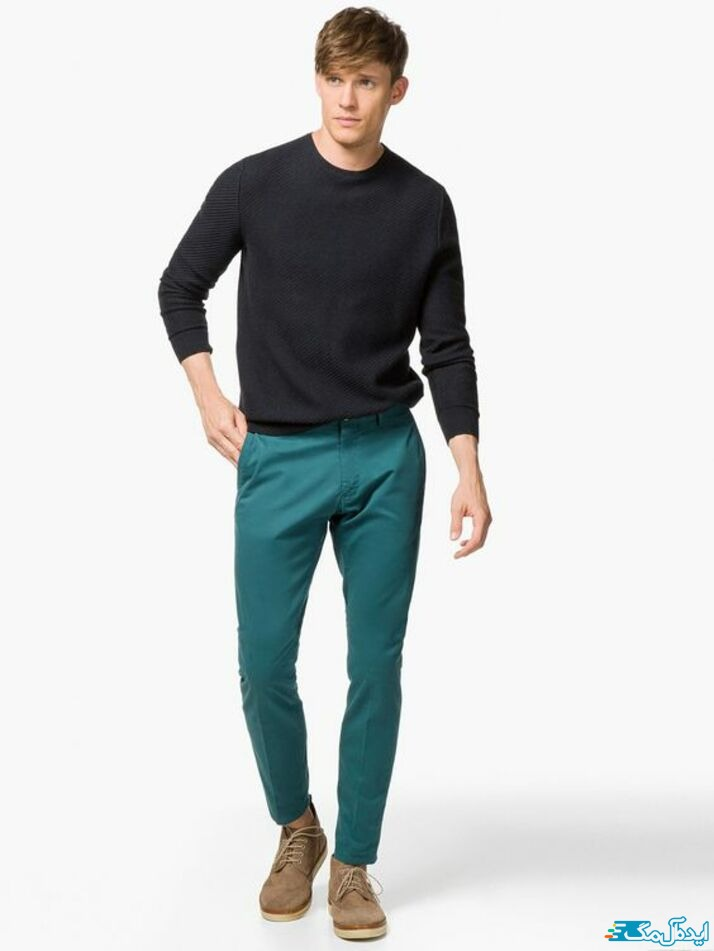 شلوار مردانه سبز کله غازی