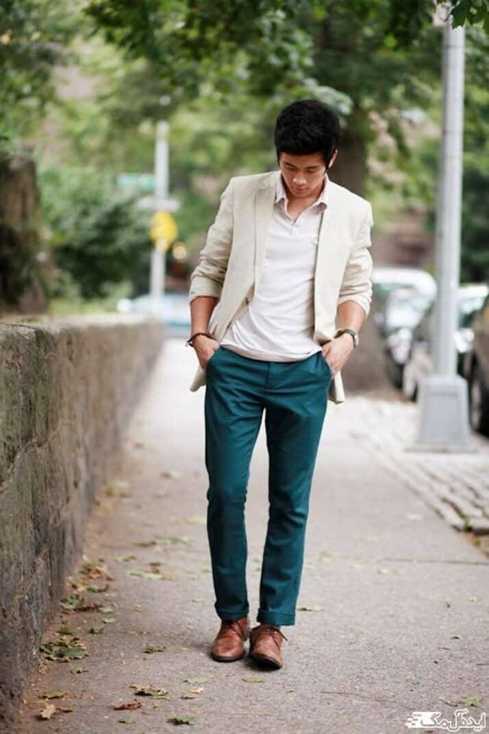 چطور شلوار مردانه سبز کله غازی بپوشیم؟
