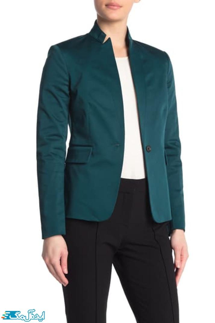 کت زنانه رنگ سبز کله غازی