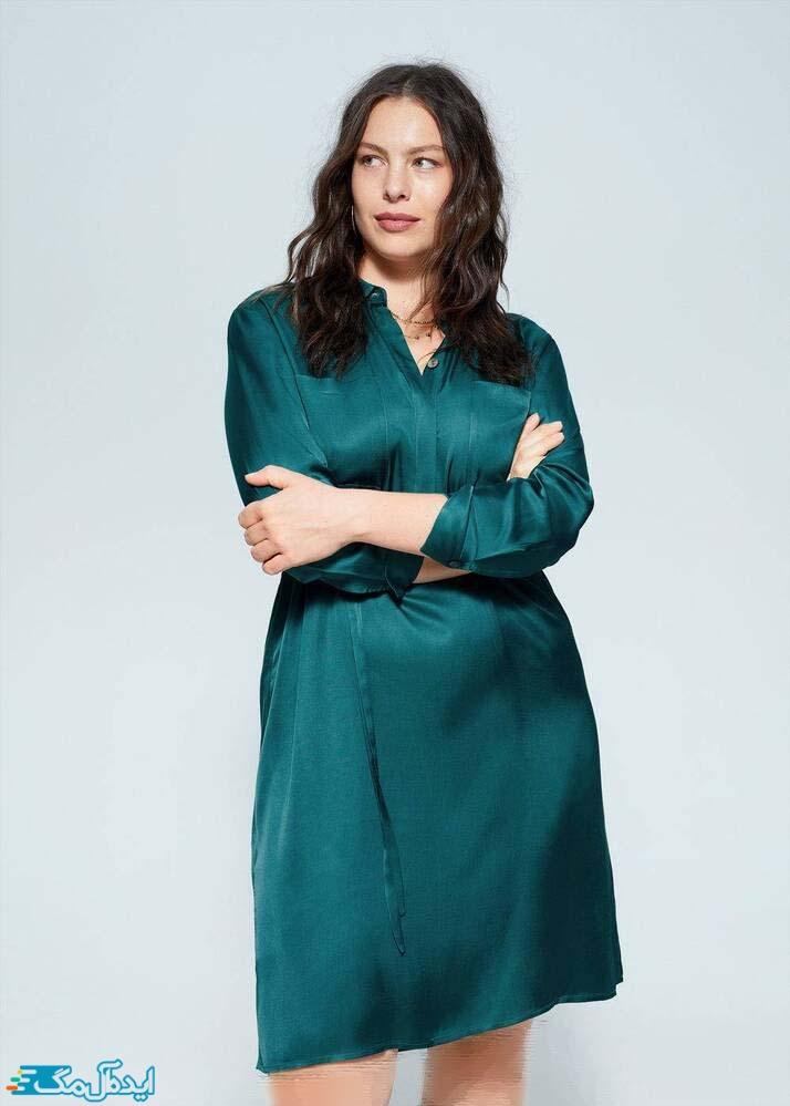 پیراهن زنانه شیک سبزآبی