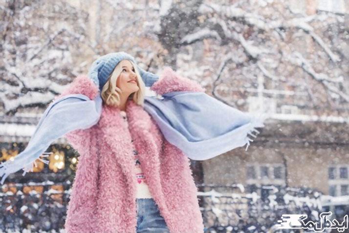 استایل زمستانه شیک زنانه