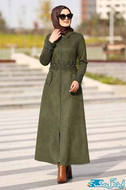 تیپ پاییزی دخترانه با حجاب