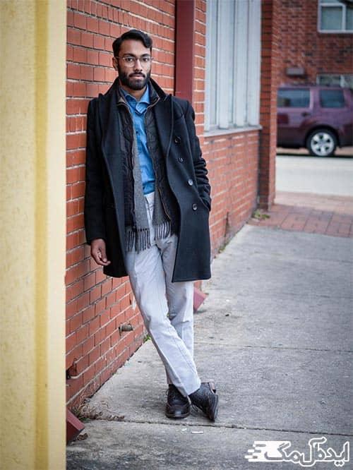 لایه ای لباس پوشیدن در لباس مردانه