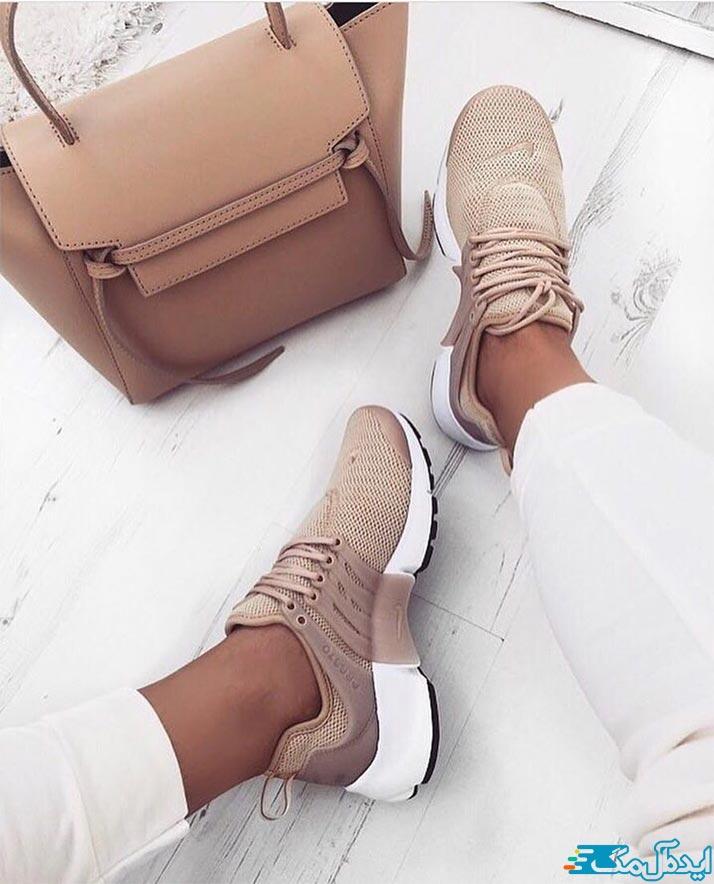 ست کردن کفش کتانی دخترانه 1400