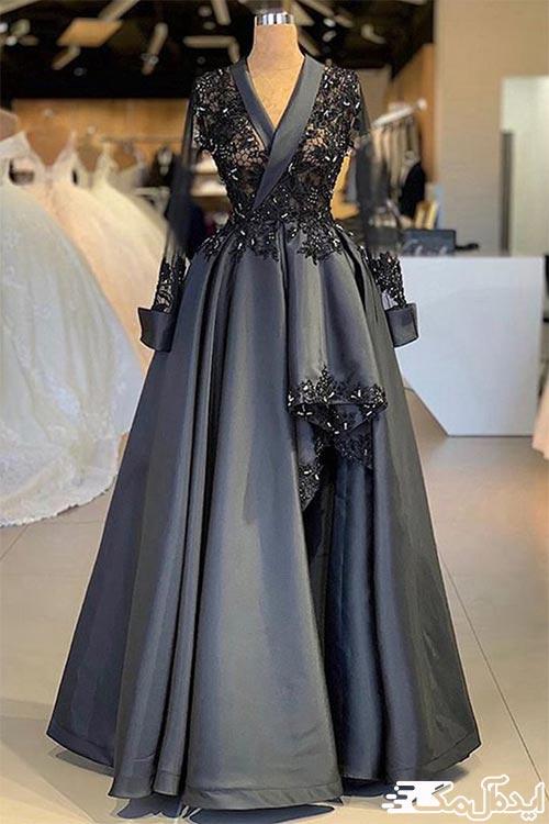 لباس مجلسی خاکستری