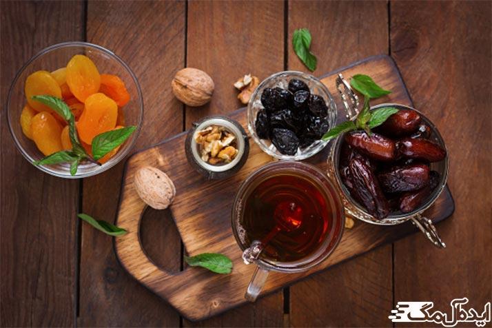 مصرف چای با میوه های خشک