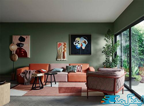 ترکیب رنگ مناسب برای اتاق نشیمن