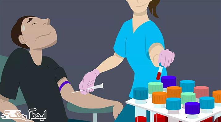 نحوه گرفتن نمونه خون
